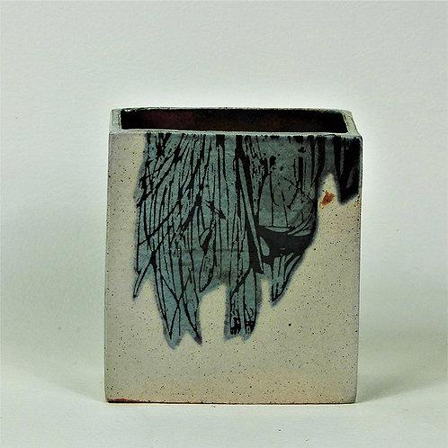 Vase Rectangular Med. Print Blue Wing
