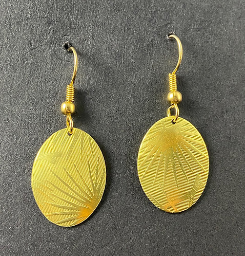 Patterned Bronze Earrings