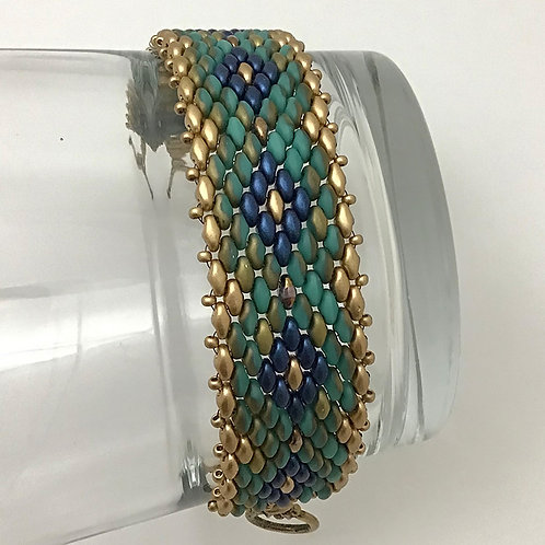 Two-tone Bracelet in Turquoise and Blue