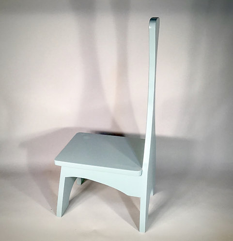 Grey Wood Step Stool with Handle