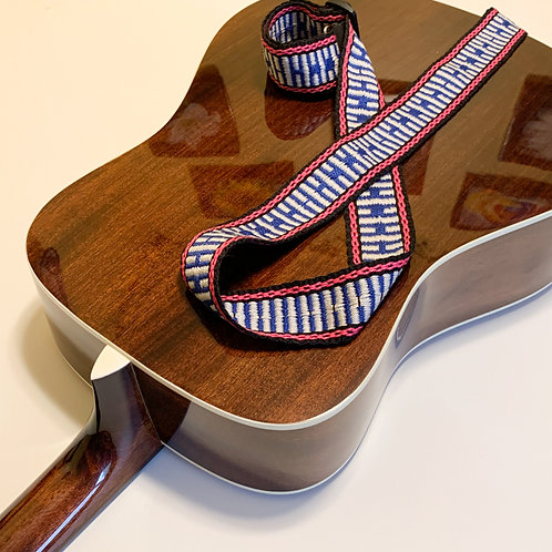 Handwoven Guitar Strap-3, special gift for musicians