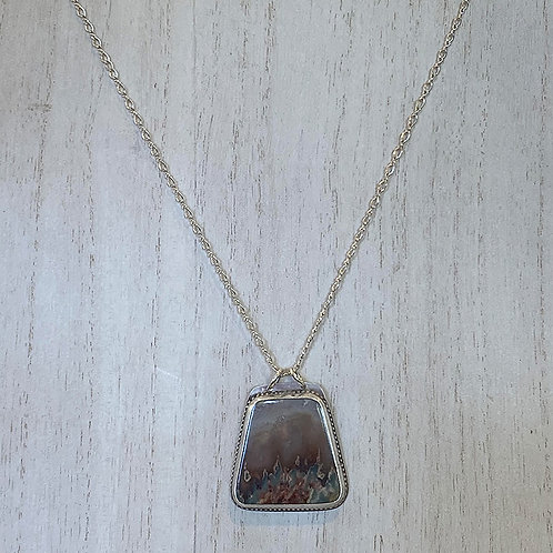 """""""Nature's Window"""" Agate in Sterling Setting"""