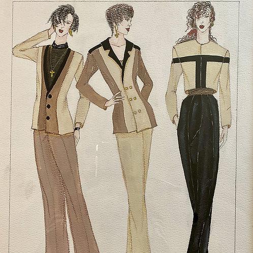 """""""A.M. Work"""", Fashion Illustration"""