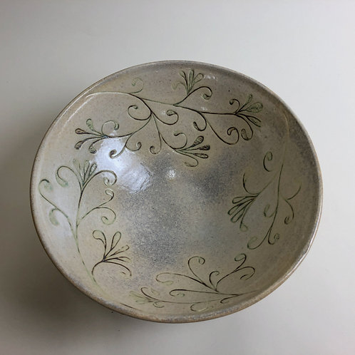 Large engraved bowl