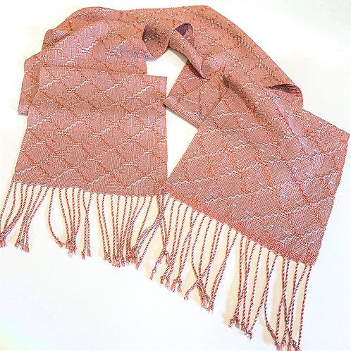 "Handwoven scarf ""Iridescent Diamonds"" ultra-soft"