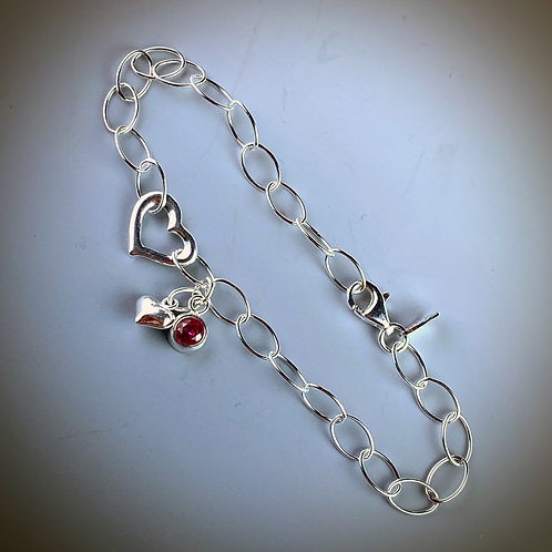 Sterling Hearts Bracelet