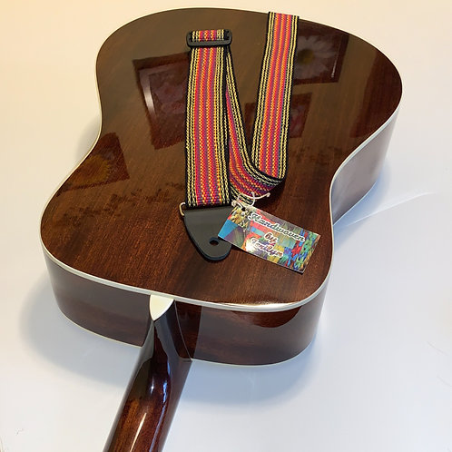 Handwoven Guitar Strap-4, special gift for musicians