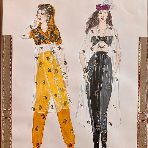 """Sheer meets Print"", Fashion Illustration"