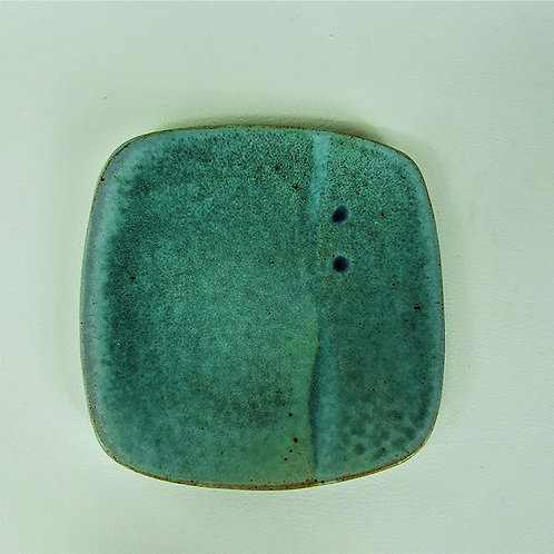 Plate Square Turquoise