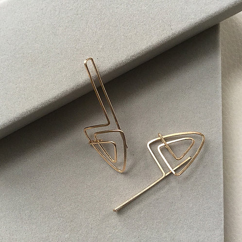"Gold Filled ""Reflection"" Earrings"