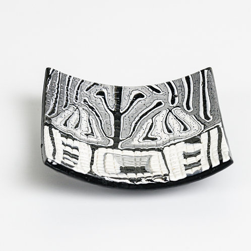 Jewelry Trinket Bowl in Black and White