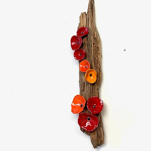 Hanging Decorative Piece with Poppies