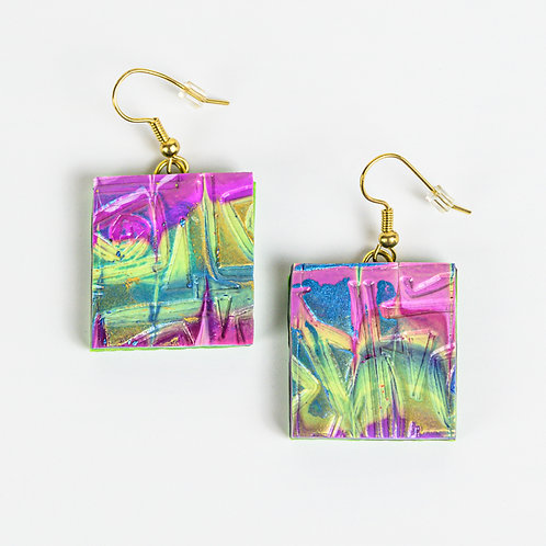Textured Spin Earrings
