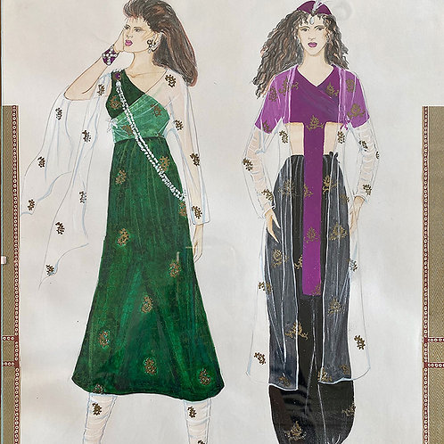 """East Meets West"", Fashion Illustration"