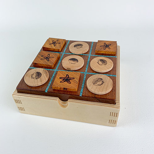 Walnut Tic-Tac-Toe Game