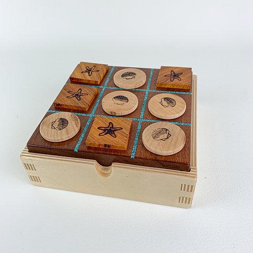 Walnut Tic-Tac-Toe Game