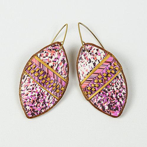 Pink Shield Earrings