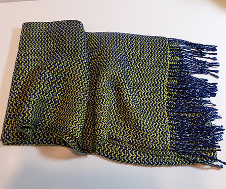 Handwoven Scarf with Iridescence