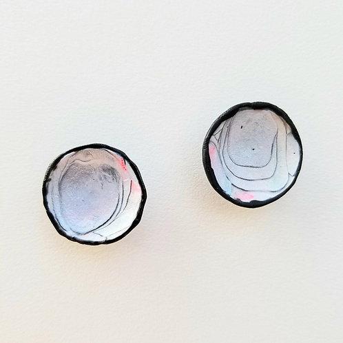 Swirled Polymer Earrings (Post)