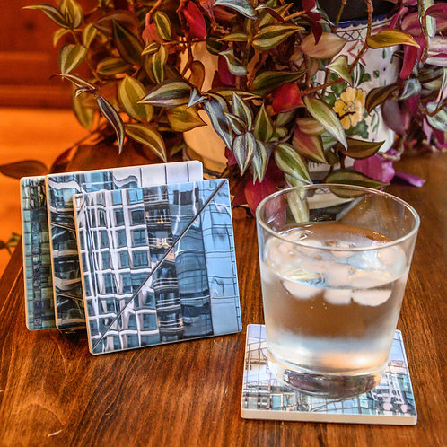 Building Reflections Marble Coaster Set