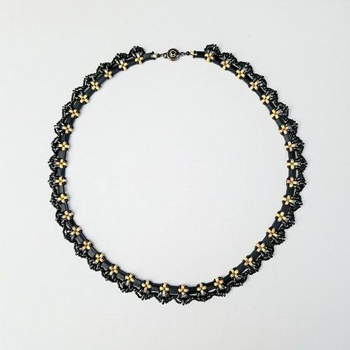 Black & Tan Beaded Necklace