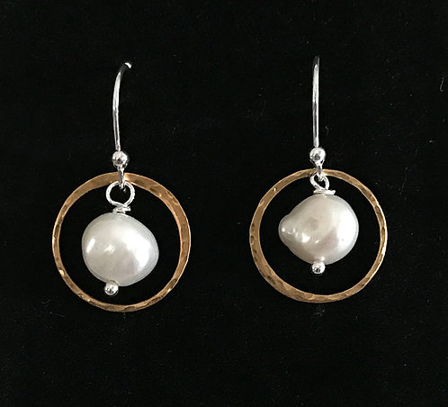 Freshwater Pearls Circled in Gold Vermeil
