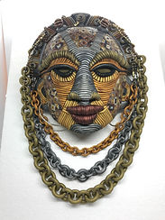 Shades of Metal Marquetry Mask
