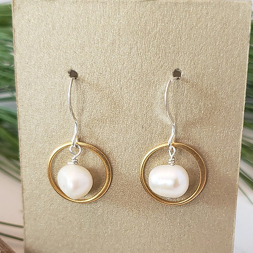Gold Ringed Freshwater Pearls