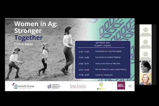 Online Webinar: Women in Agriculture: Stronger Together
