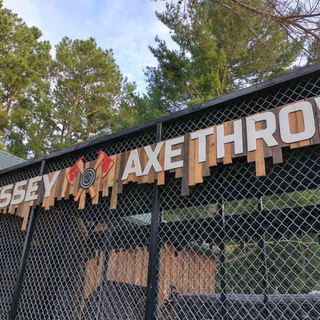 Odyssey Axe Throw Sign
