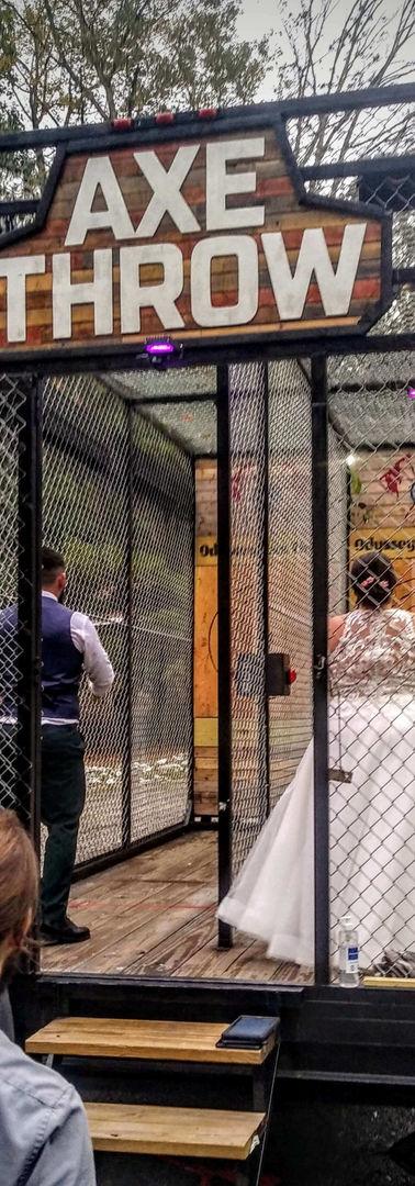 Bride And Groom Axe Throw