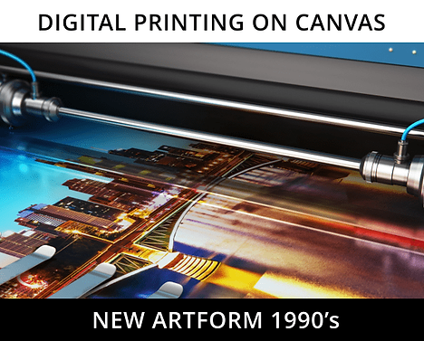 A printed image ready for Canvas RevealX