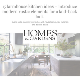 15 Farmhouse Kitchen Ideas – introduce modern rustic elements for a laid-back look