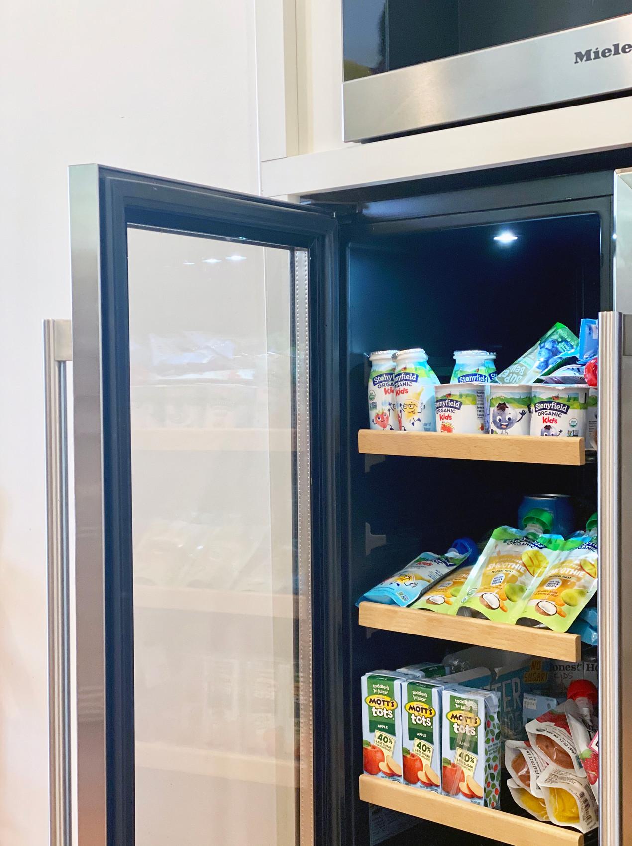 rye modern tudor, snack bar, mini fridge, family friendly design