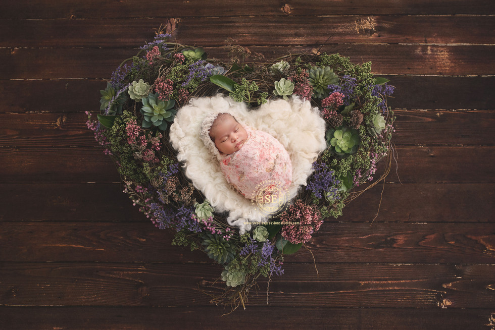 Toronto-Newborn-Photography-Heart-Shape-