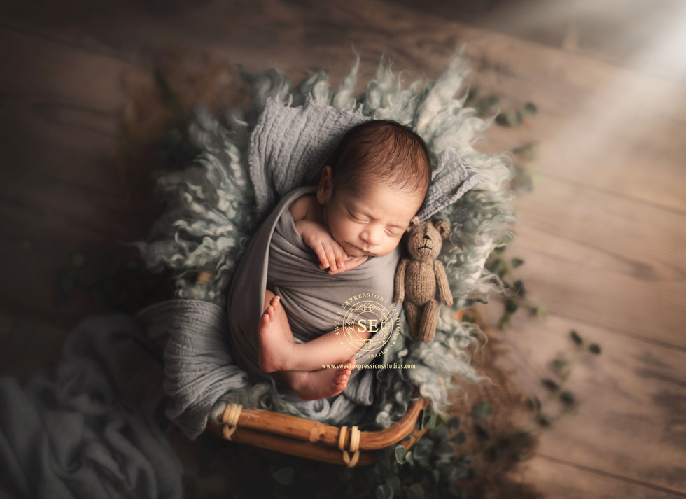 Toronto-Newborn-Photography-Blue-bamboo-