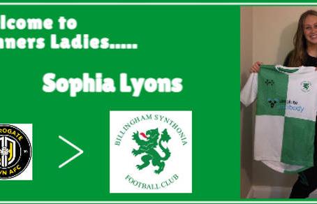 Sophia Lyons in from Harrogate Town AFC Ladies