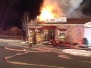 Deli Works Heavily Damage by Fire