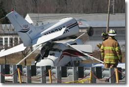 Plane Overshoots Runway