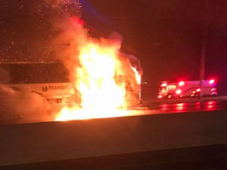 NJ Transit Bus Fire