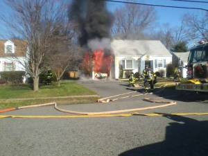 Vehicle Fire Damages Home