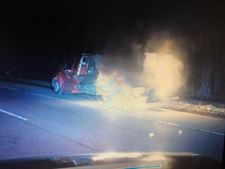 Car Fire Disrupts Traffic on Route 23