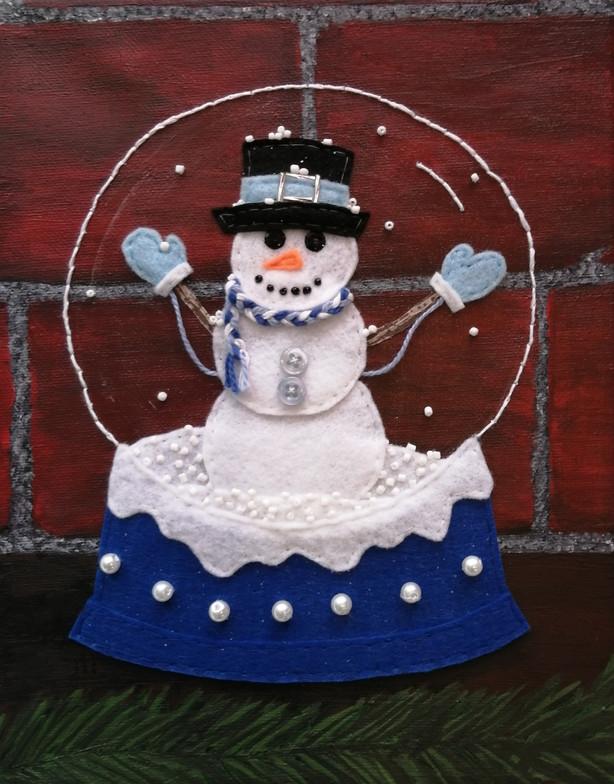 Snowy Souvenir (Snowman), 2019
