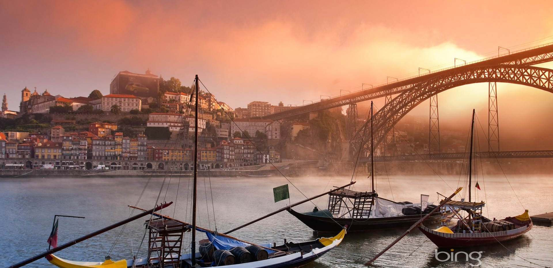 Boats in Douro River