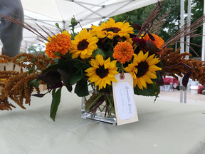 Aromatic Acres' locally grown fall arrangement