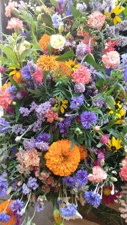 Aromatic Acres' summer bouquets ready for the TOSA Farmers Market.