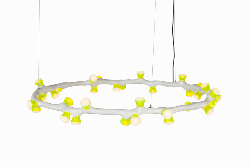 LEDS CLAY Pendant ring, 33 lights