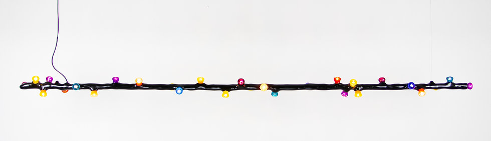 LEDS CLAY Pendant stick horizontal, 28 lights