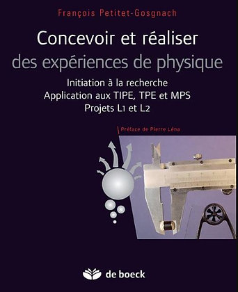 """Ouvrage """"Concevoir et réaliser des expériences de physique"""""""
