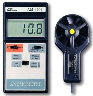 Anémomètre digital à turbine séparée + Thermomètre